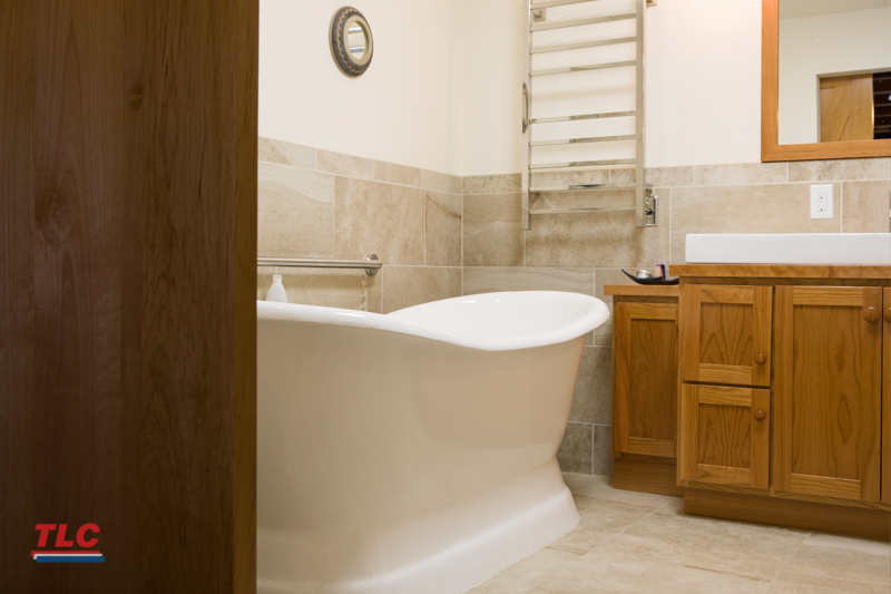 Master Bathroom Remodel Free Standing Tub TLC Plumbing Extraordinary Free Bathroom Remodel