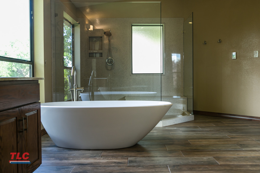 Modern Bathroom Remodel By TLC 48 Photos TLC Plumbing Gorgeous Bathroom Plumbing Installation Remodelling