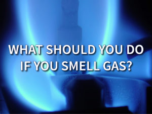 What should I do if I smell gas?